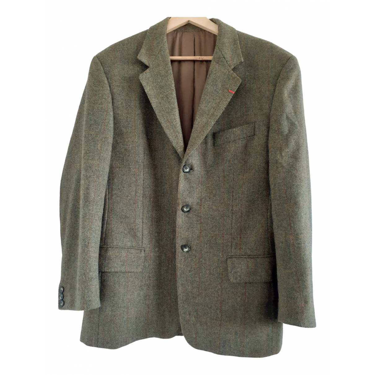 Burberry \N Green Wool jacket  for Men 52 FR