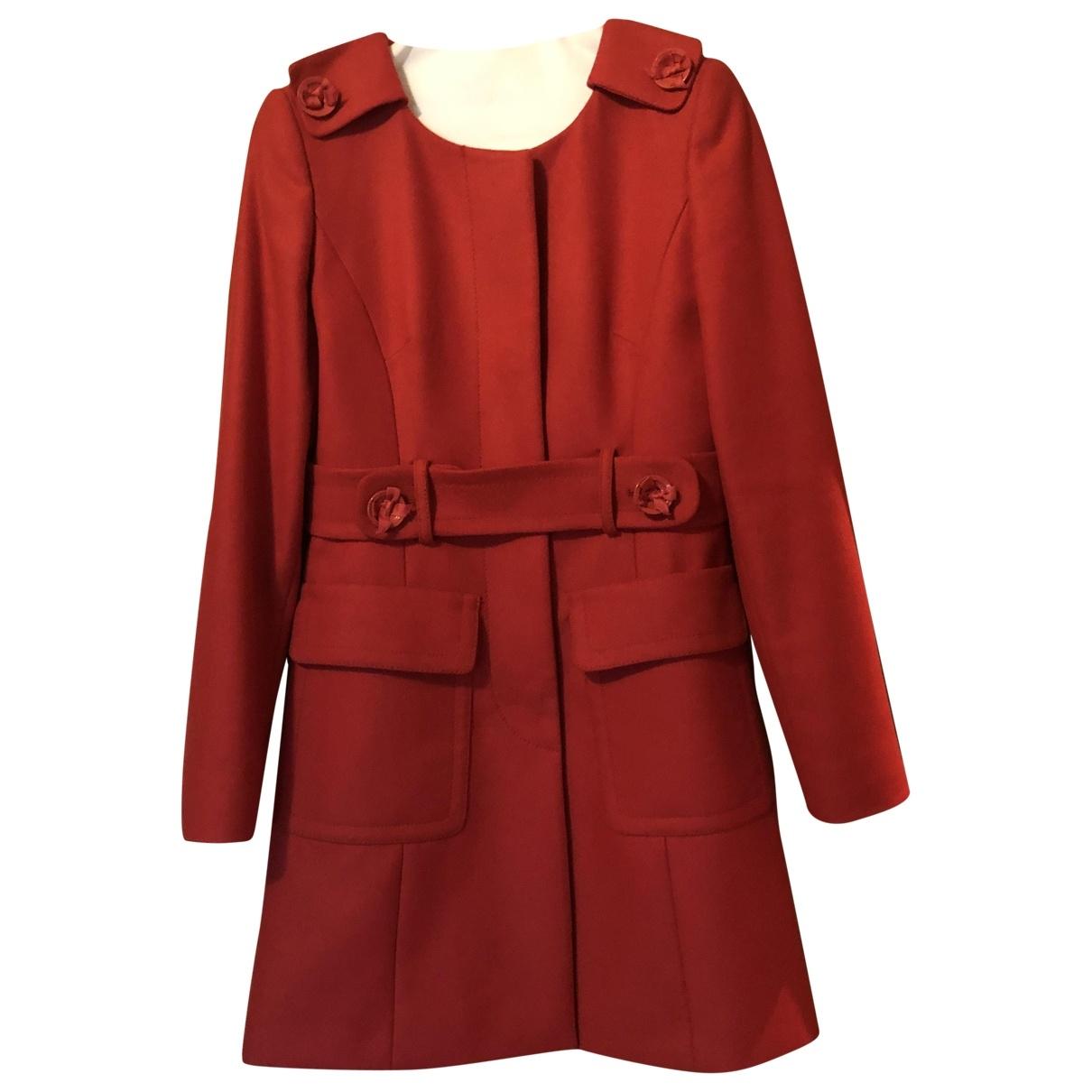 Red Valentino Garavani \N Maentel in  Rot Wolle