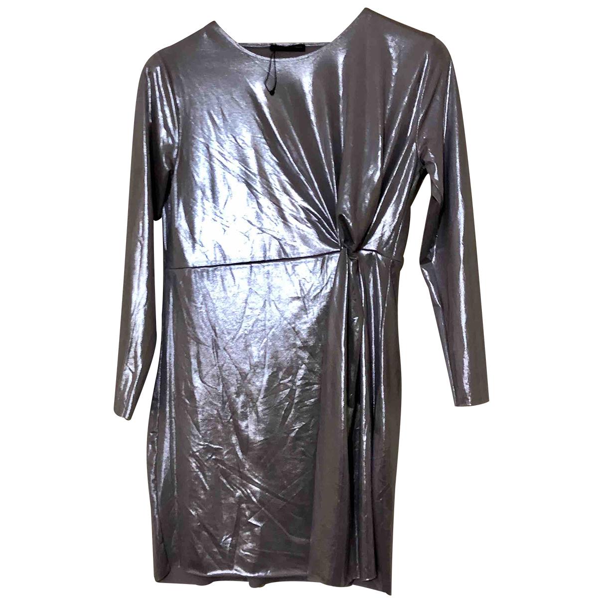 Zara \N Kleid in  Grau Polyester