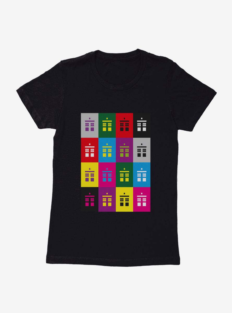 Doctor Who TARDIS Silhouette Box Up Womens T-Shirt
