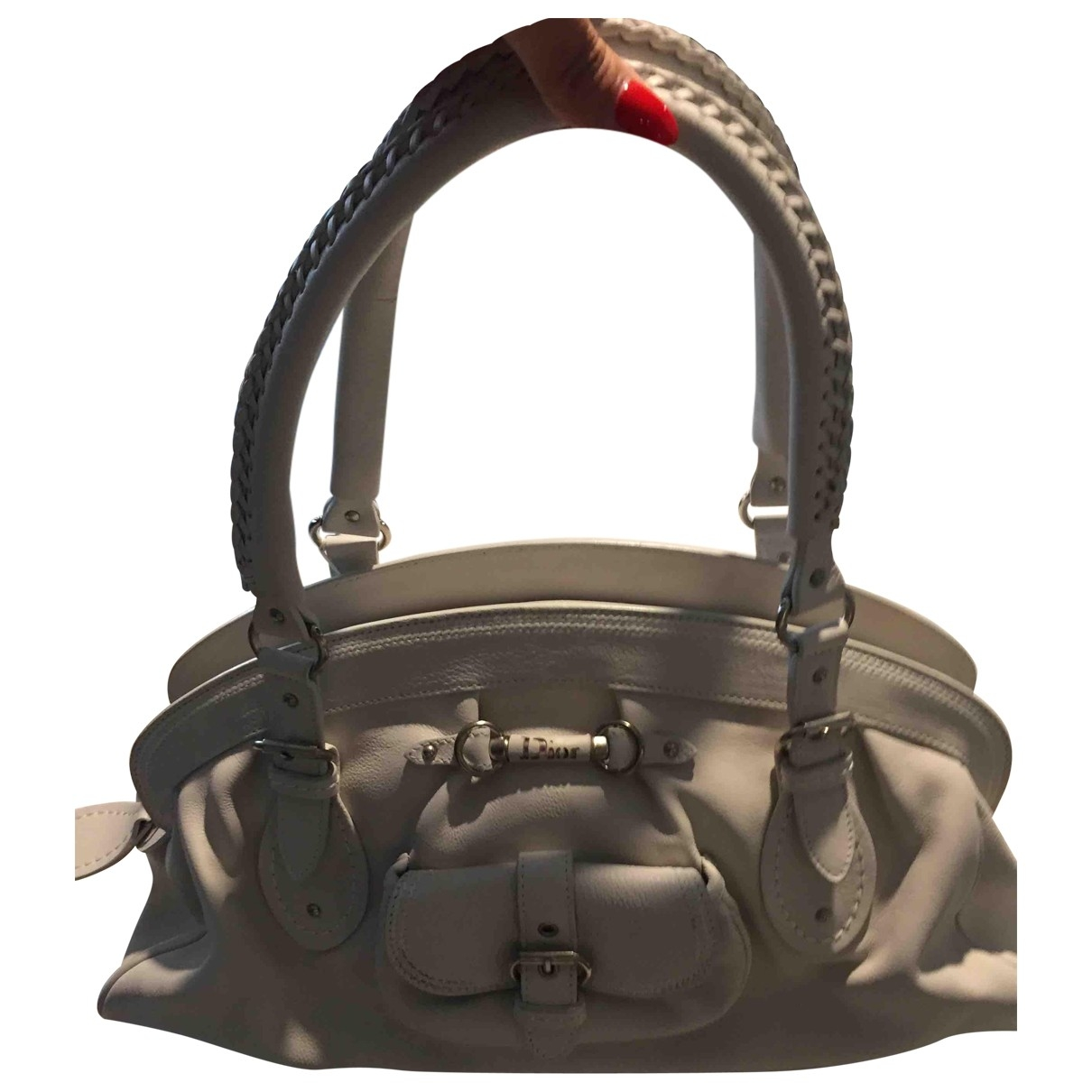 Dior Détective White Leather handbag for Women \N