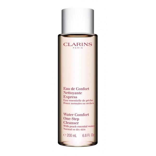 Clarins - Eau de Confort Nettoyante Express - Peaux Normales ou Sèches : Exfoliating Cleanser 6.8 Oz / 200 ml