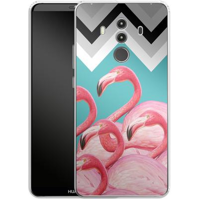 Huawei Mate 10 Pro Silikon Handyhuelle - Flamingo Pattern von Mark Ashkenazi
