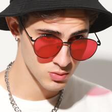 Herren Metallrahmen Sonnenbrille