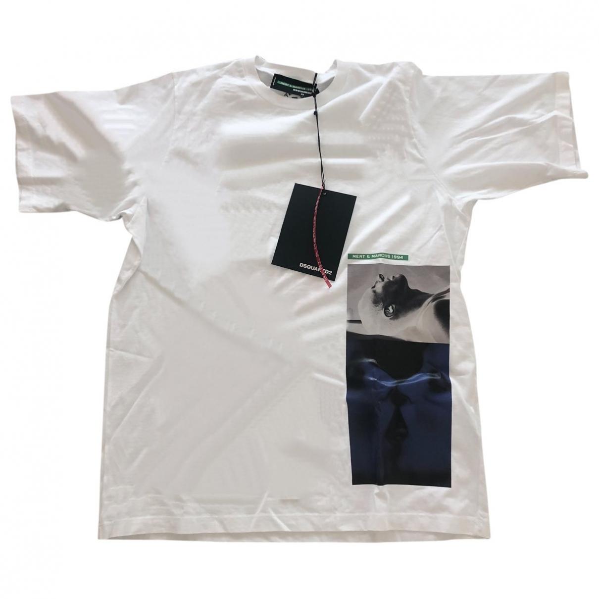 Dsquared2 \N White Cotton T-shirts for Men XS International
