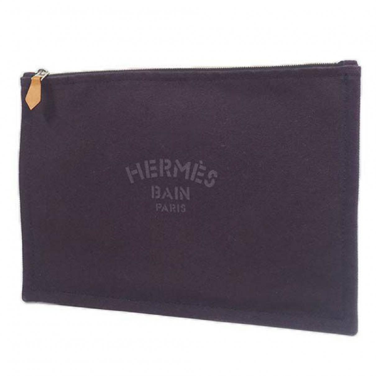 Hermes \N Clutch in  Lila Leinen