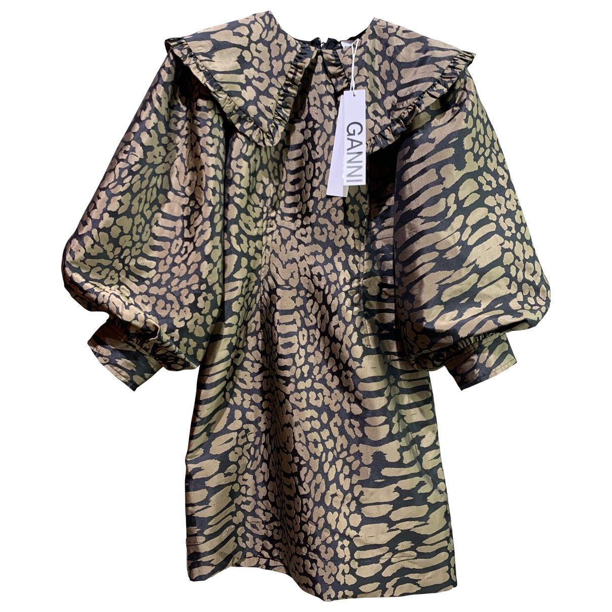 Ganni Spring Summer 2020 Brown dress for Women 34 FR