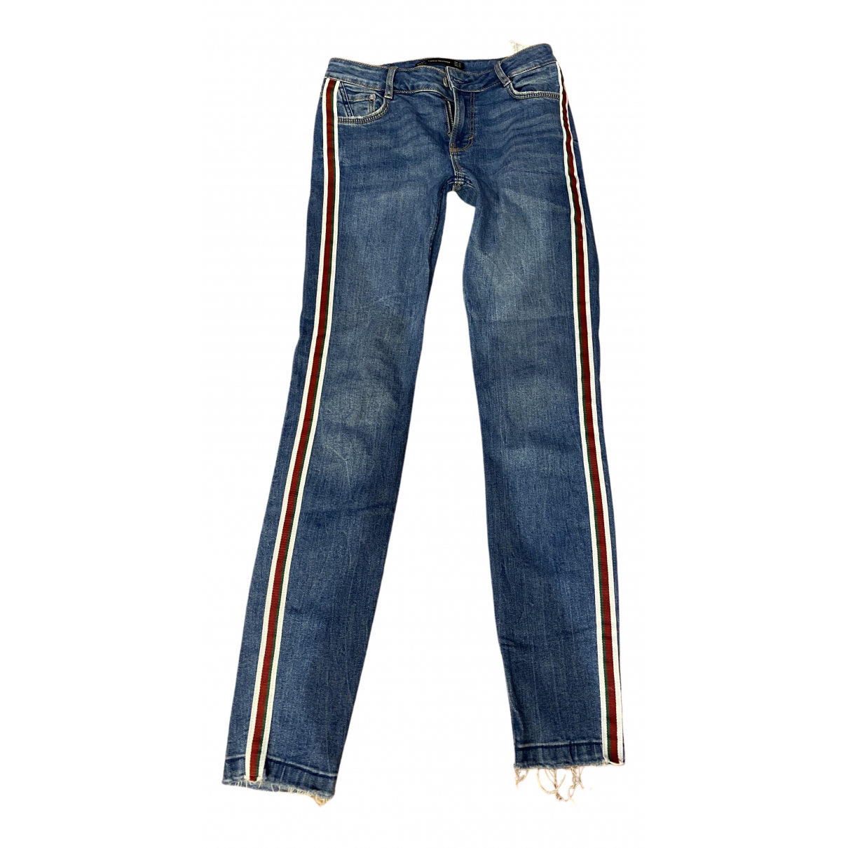 Pantalon en Denim - Vaquero Azul Zara