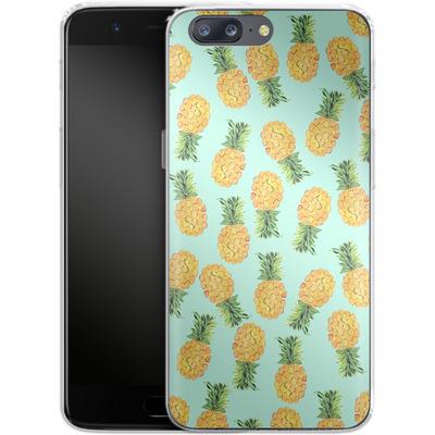 OnePlus 5 Silikon Handyhuelle - Pineapple von Amy Sia
