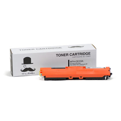 Compatible HP 126A CE310A Black Toner Cartridge - Moustache - 1/Pack