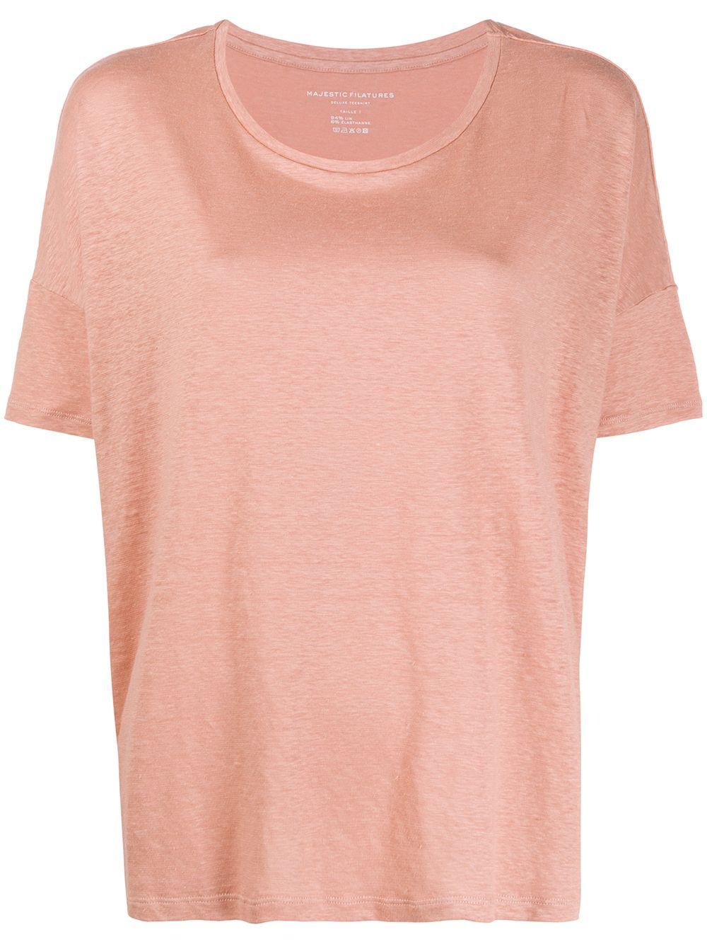 Linen Blend Boxy Fit T-shirt