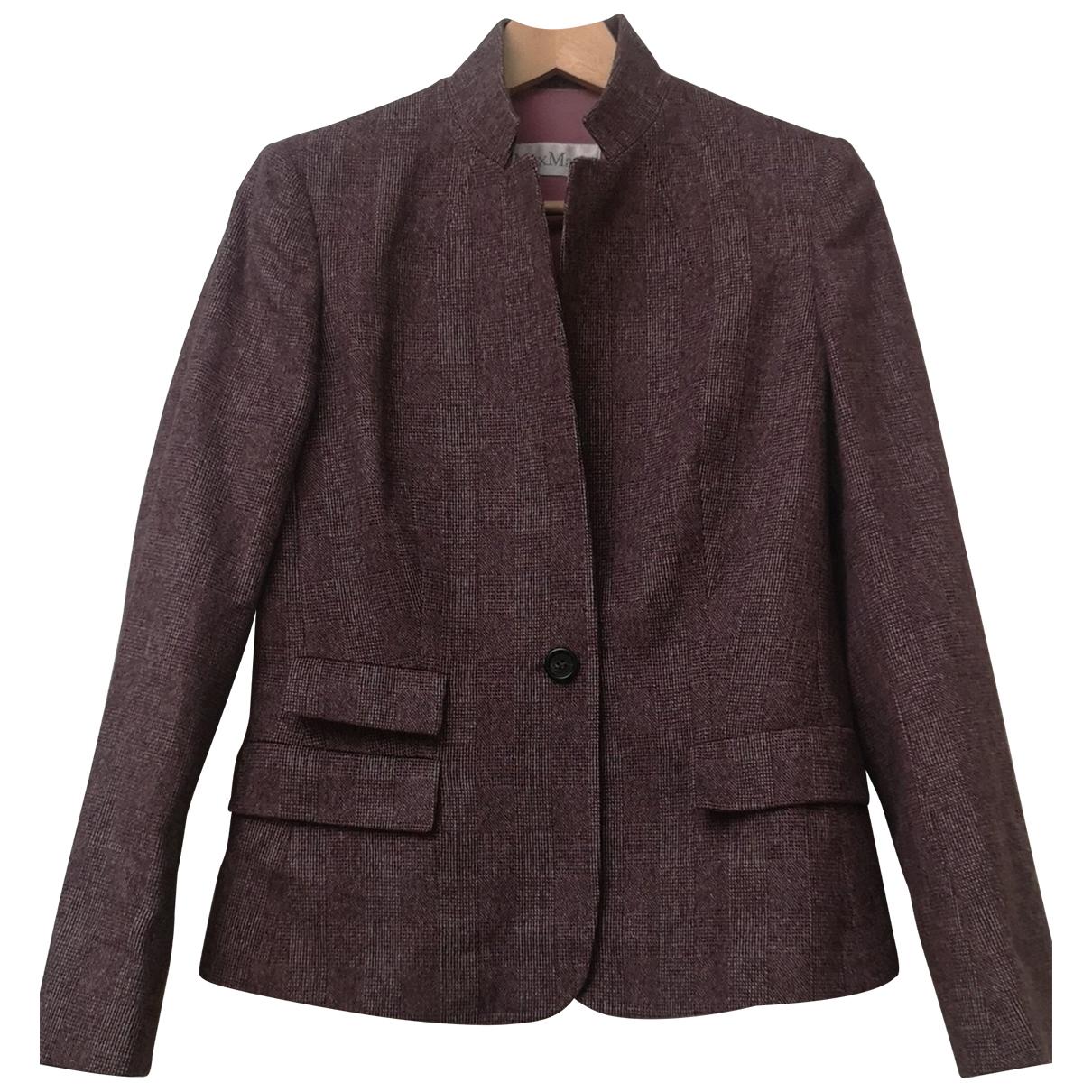 Max Mara N Burgundy Wool jacket for Women 42 IT