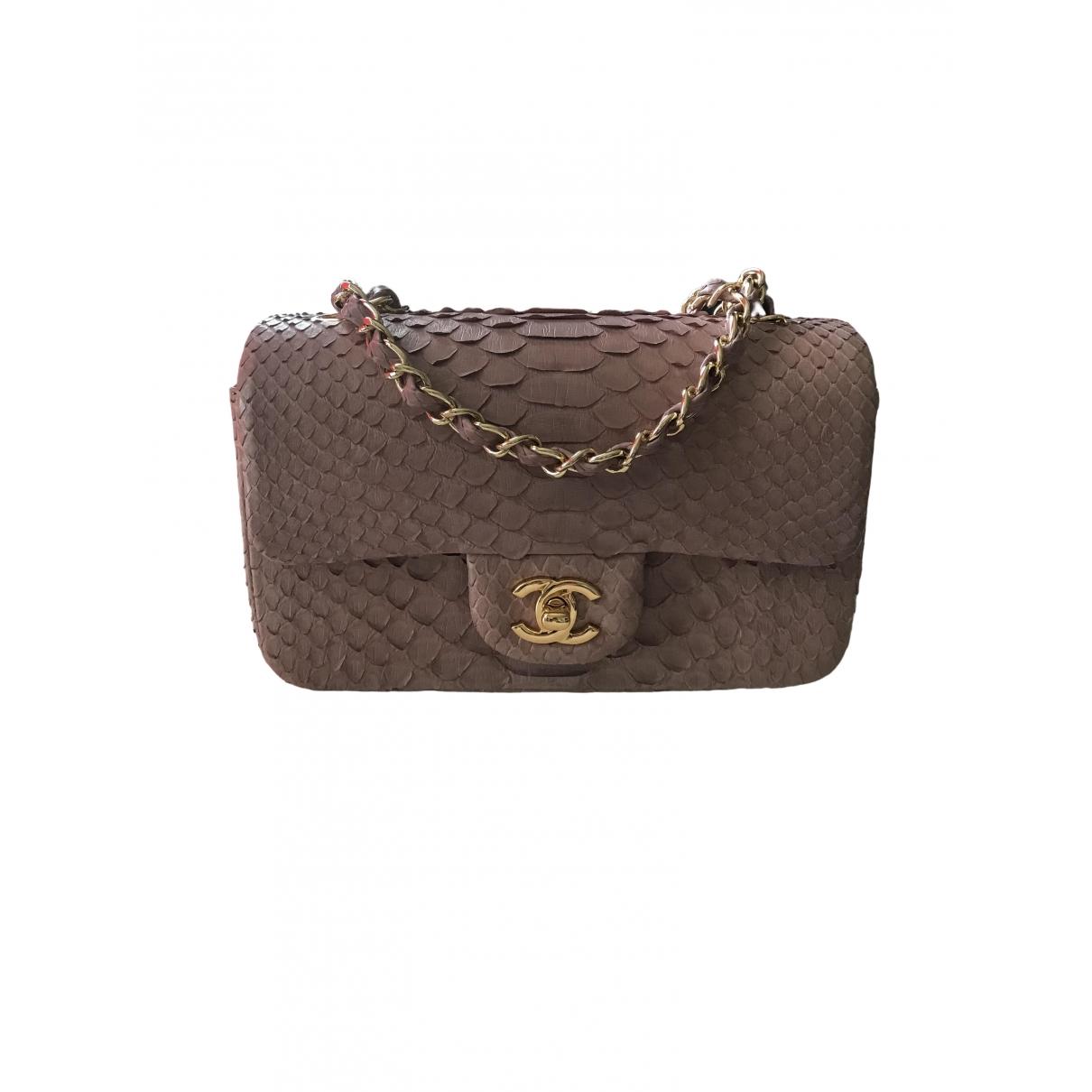 Chanel Timeless/Classique Pink Python handbag for Women \N