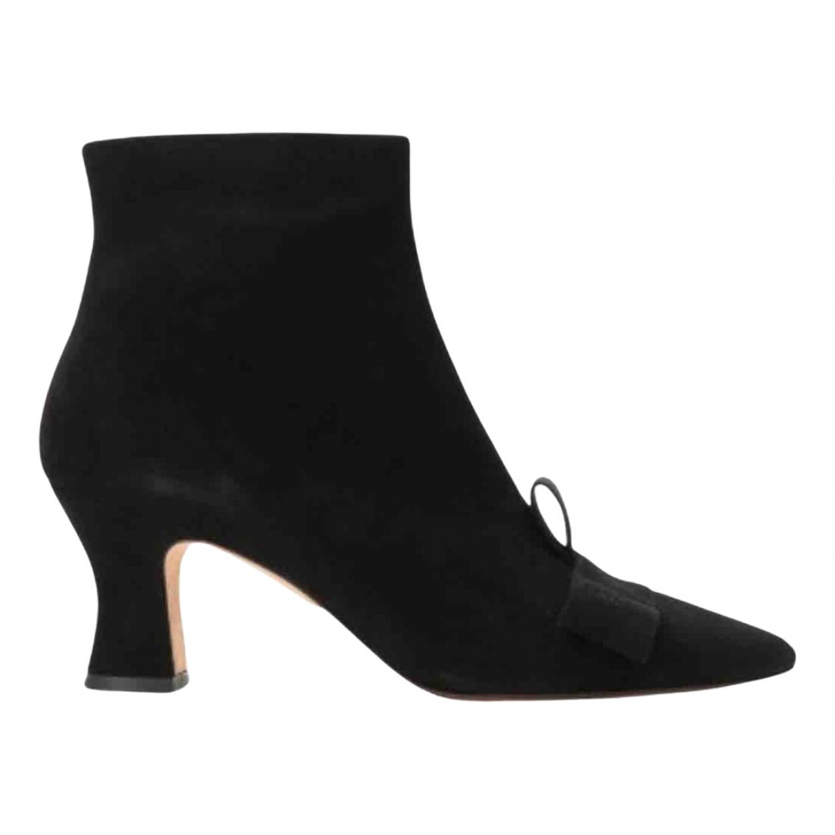 Chie Mihara - Boots   pour femme en suede - noir