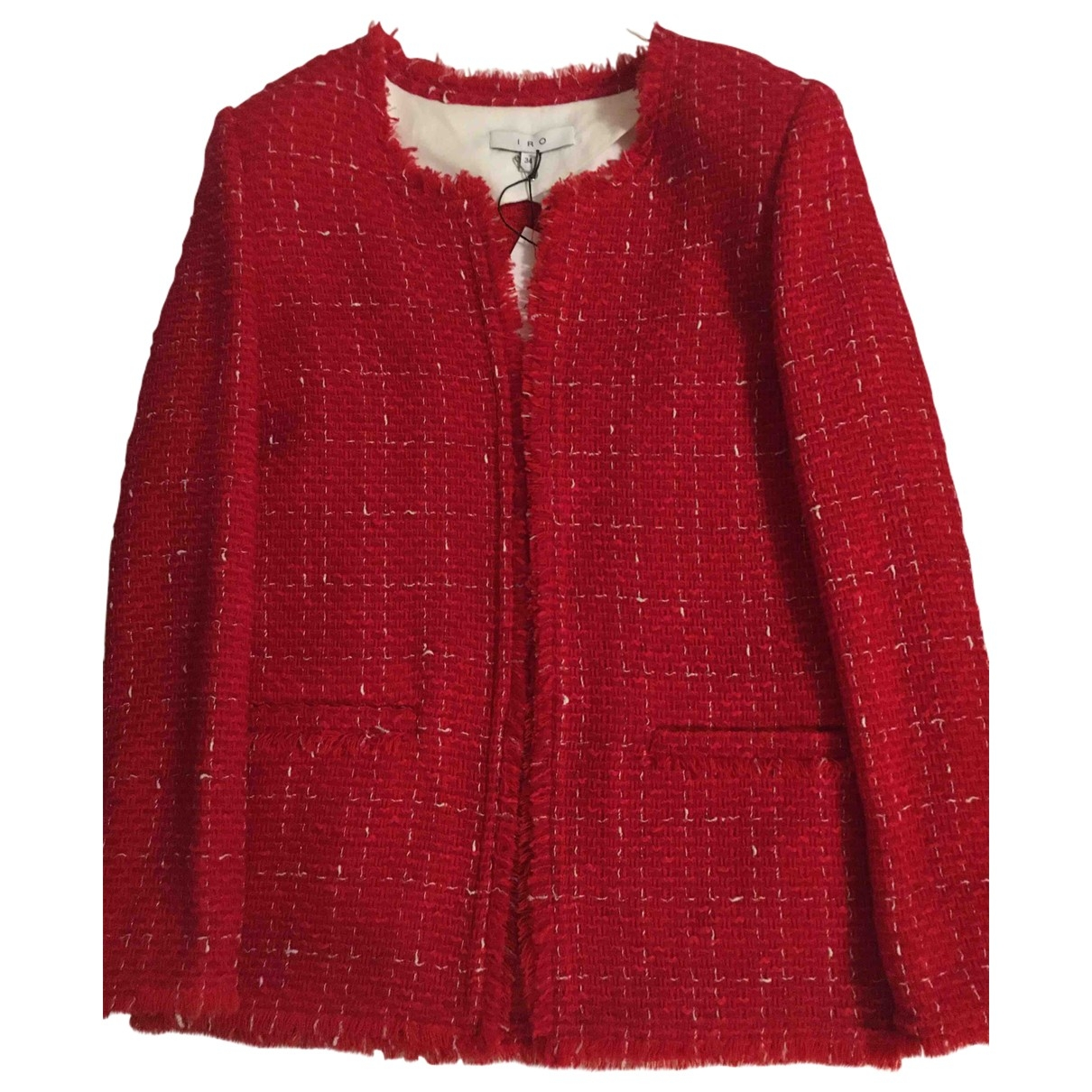 Iro \N Red Tweed jacket for Women 34 FR