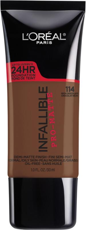 Infallible Pro-Matte Liquid Longwear Foundation - Rich Chocolate 114