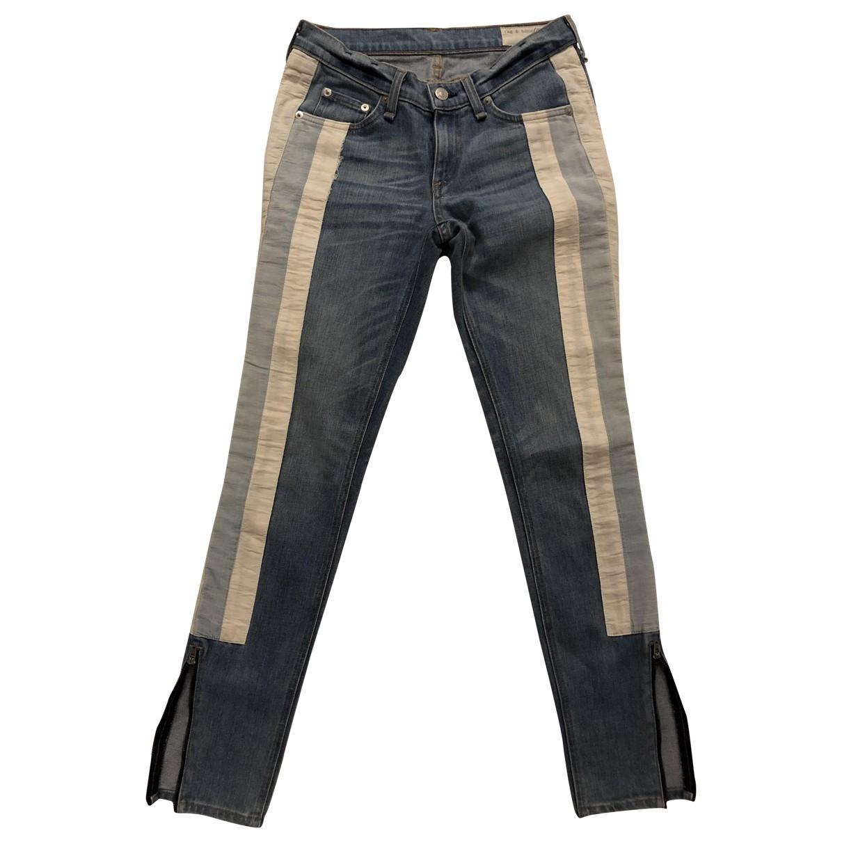 Rag & Bone \N Blue Denim - Jeans Jeans for Women 25 US