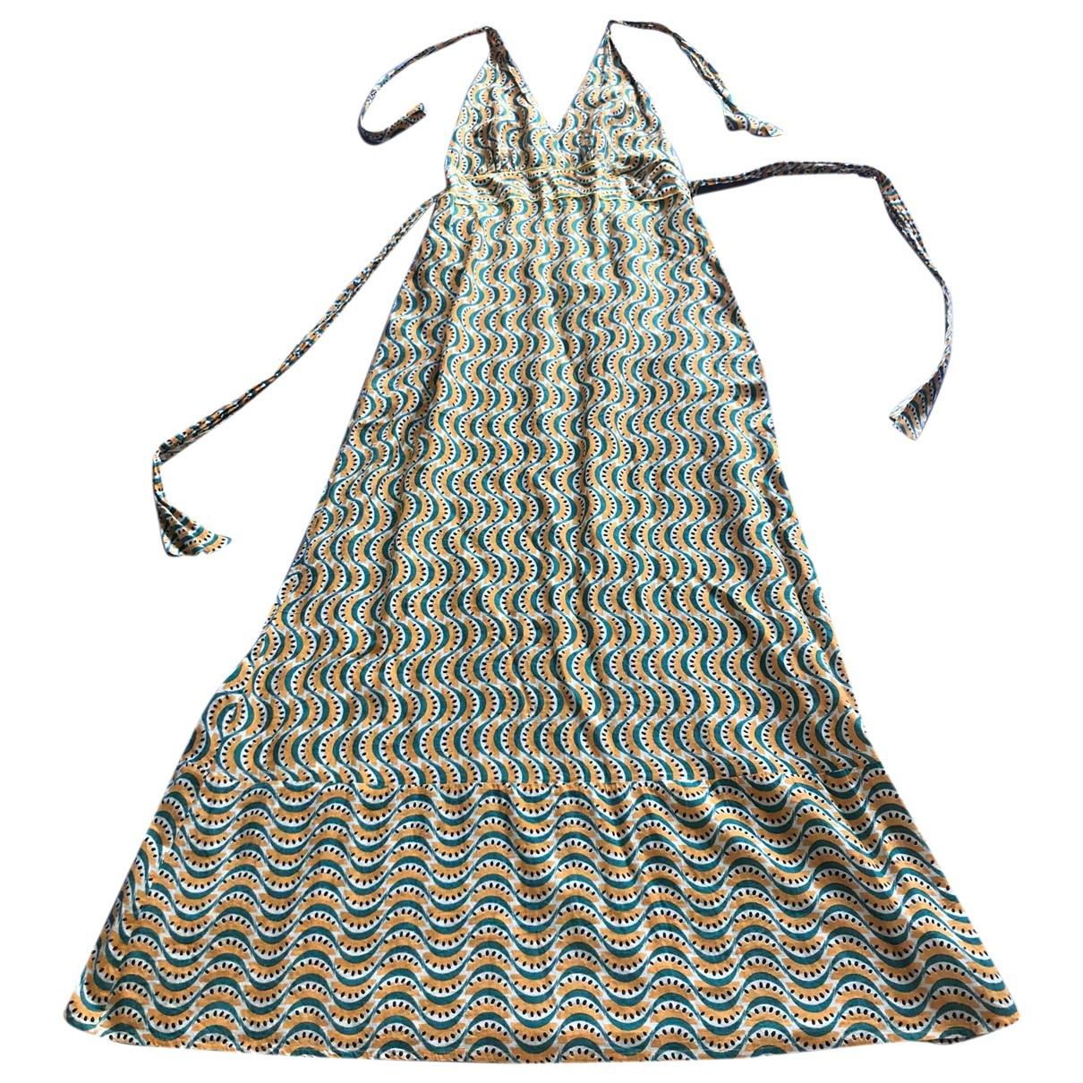 Antik Batik \N Kleid in  Gruen Baumwolle