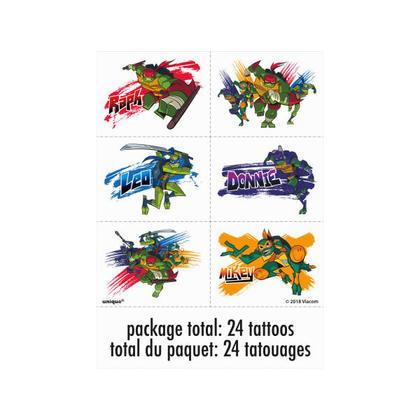 Ninja Turtles 4 Tattoo Sheets/Favors Pour la fête d'anniversaire