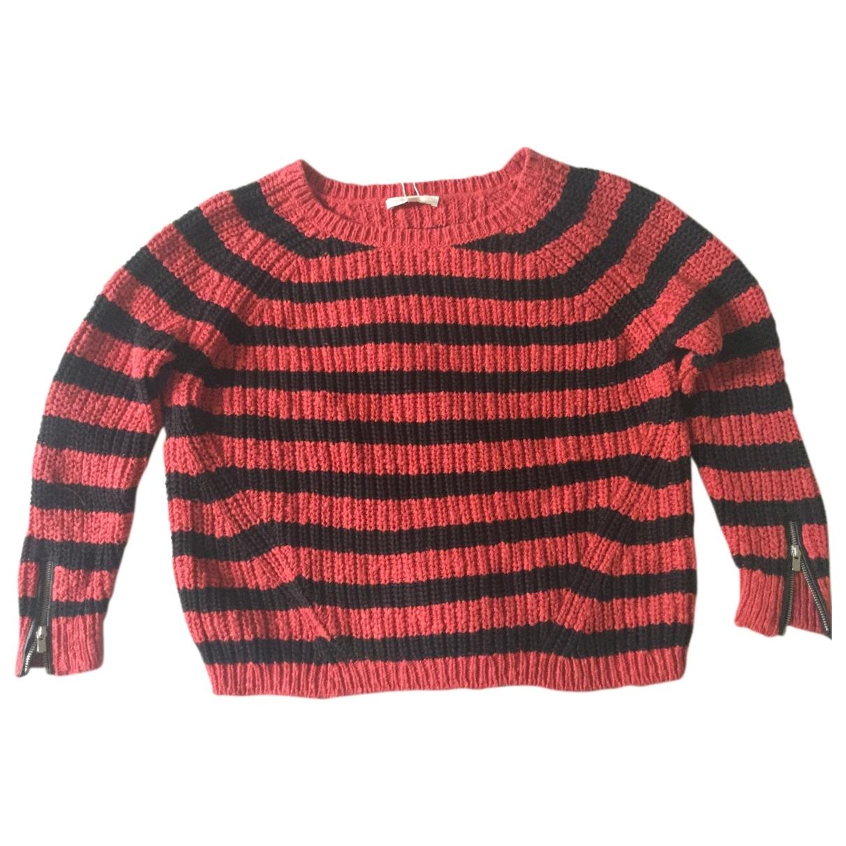 Maje - Pull   pour femme en coton - rouge