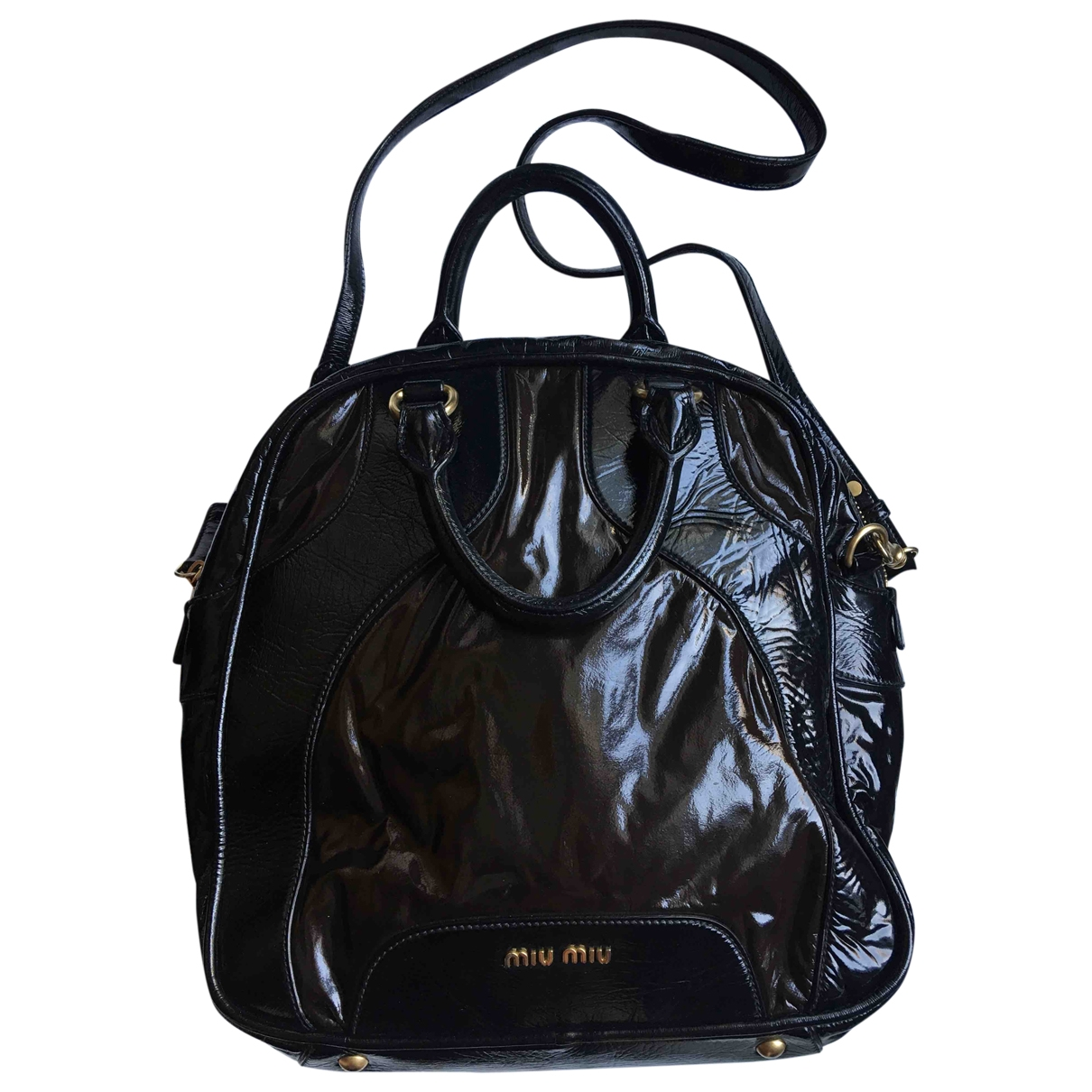 Miu Miu \N Black Patent leather handbag for Women \N