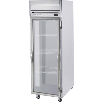 HRS1-1G One Section Glass Door Reach-In Refrigerator  24 cu.ft. capacity  Stainless Steel Exterior and Interior