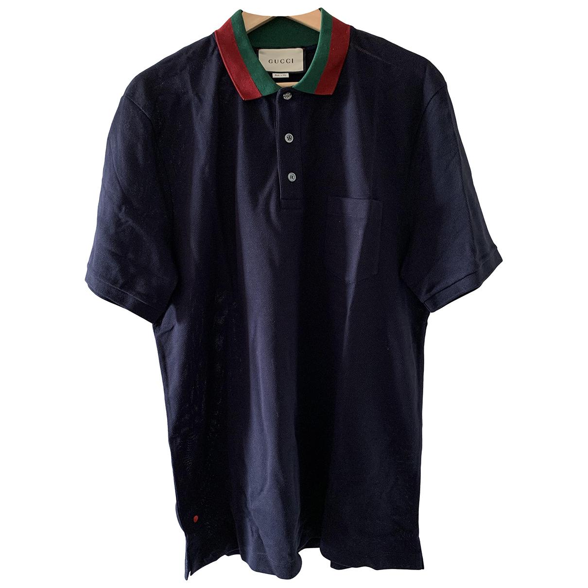 Gucci - Polos   pour homme en coton - marine
