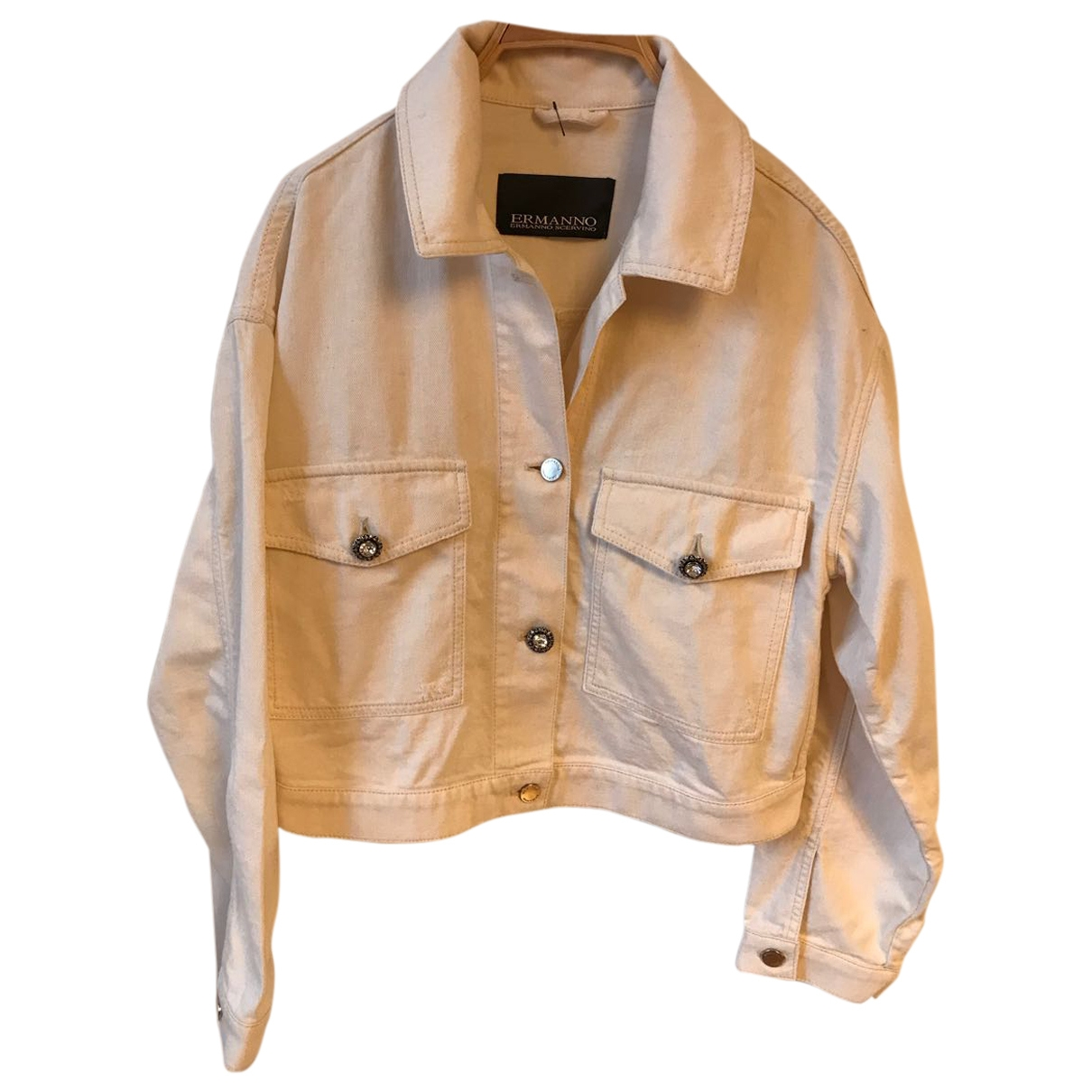 Ermanno Scervino \N Ecru Denim - Jeans jacket for Women 40 IT