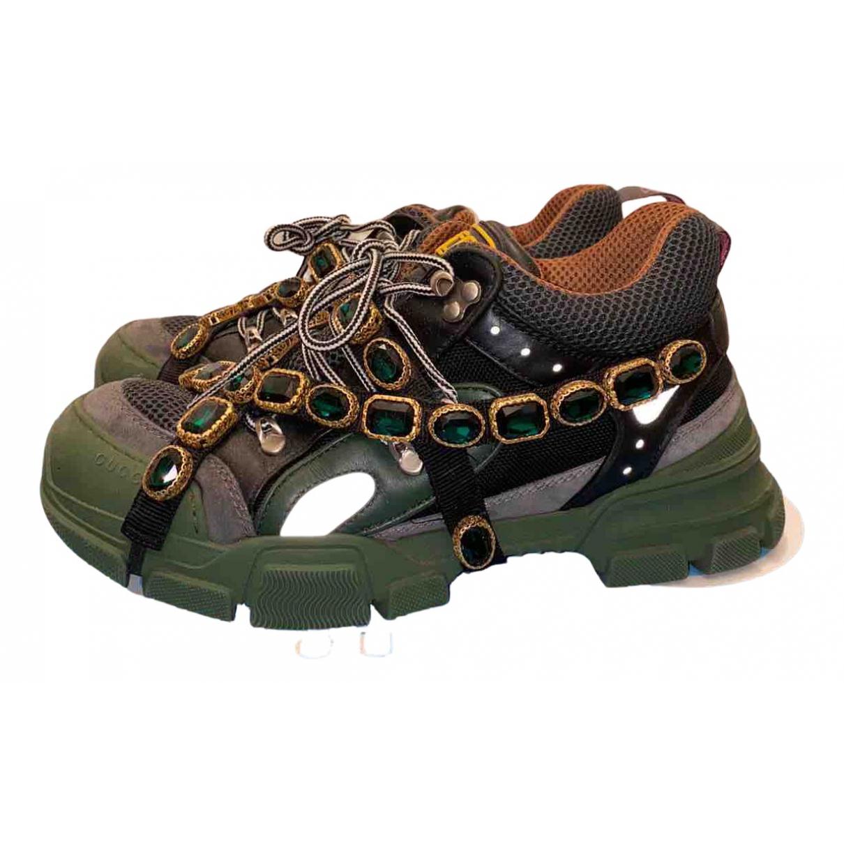 Gucci - Baskets Flashtrek pour homme en toile - vert