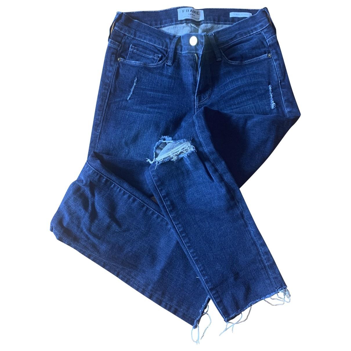 Frame Denim - Pantalon   pour femme en toile - bleu