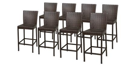 Belle Collection BELLE-TKC202b-BS-4x 8 Barstools with