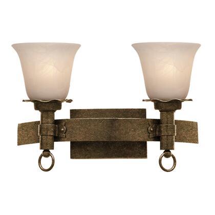 Americana 4202AC/1209 2-Light Bath in Antique Copper with Ecru Standard Glass