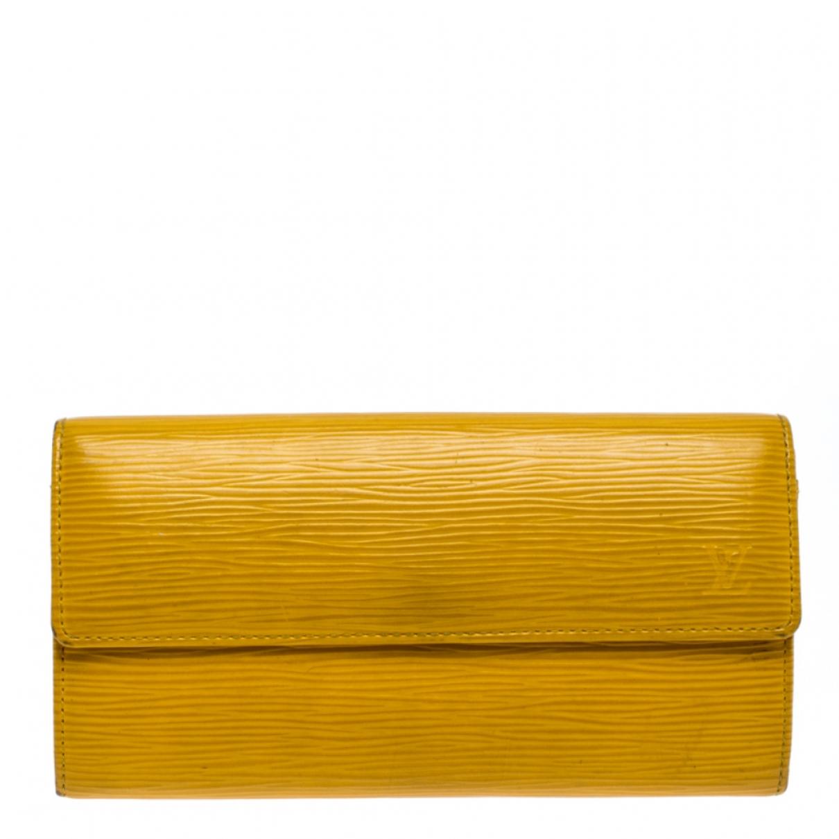 Louis Vuitton - Portefeuille Sarah pour femme en cuir - jaune