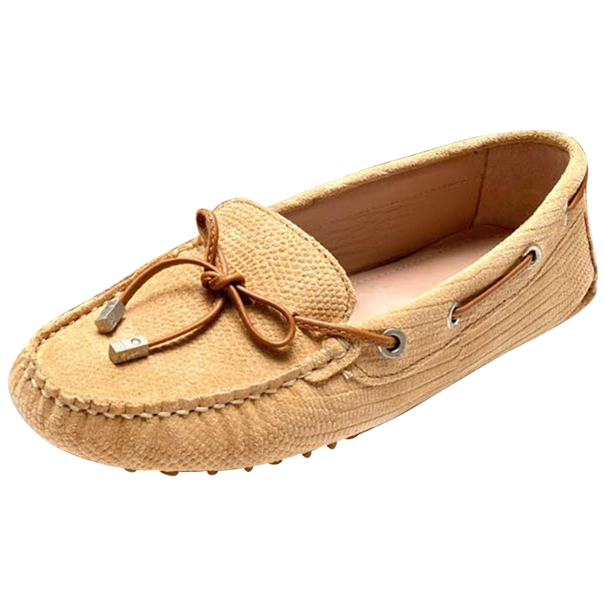 Non Signé / Unsigned \N Camel Suede Flats for Women 40 EU
