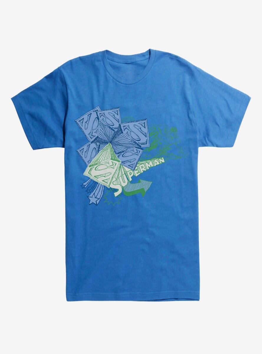 DC Comics Superman Logos Sketches T-Shirt
