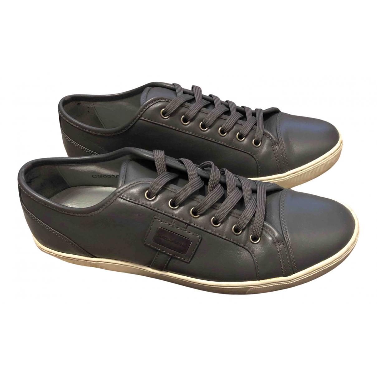 Dolce & Gabbana \N Sneakers in  Grau Leder