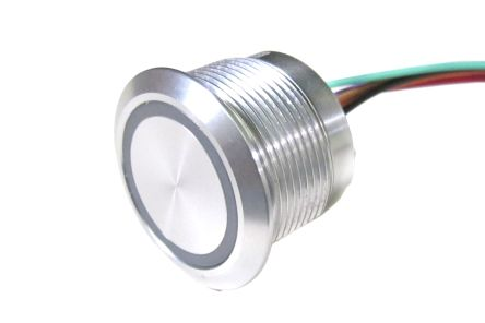 RS PRO Capacitive Push Button Switch, Momentary ,Illuminated, RGB, IP68 (20)