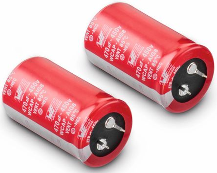 Wurth Elektronik 180μF Electrolytic Capacitor 450V dc, Through Hole - 861011483007 (5)