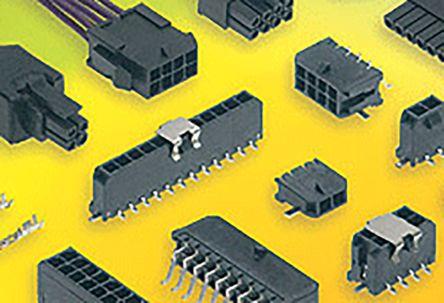 Molex , 43650, 4 Way, 1 Row, Vertical PCB Header (50)