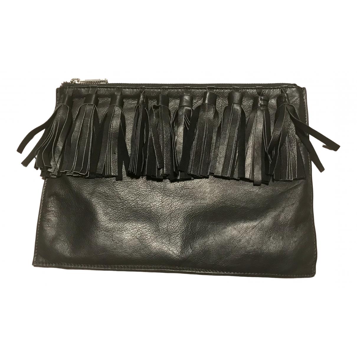 Asos - Pochette   pour femme en cuir - noir