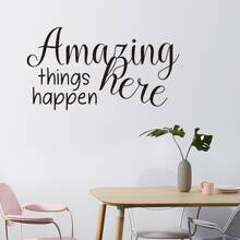 Slogan Graphic Wall Sticker