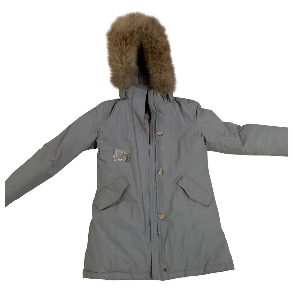 Woolrich \N Blue Fur jacket & coat for Kids 14 years - S FR