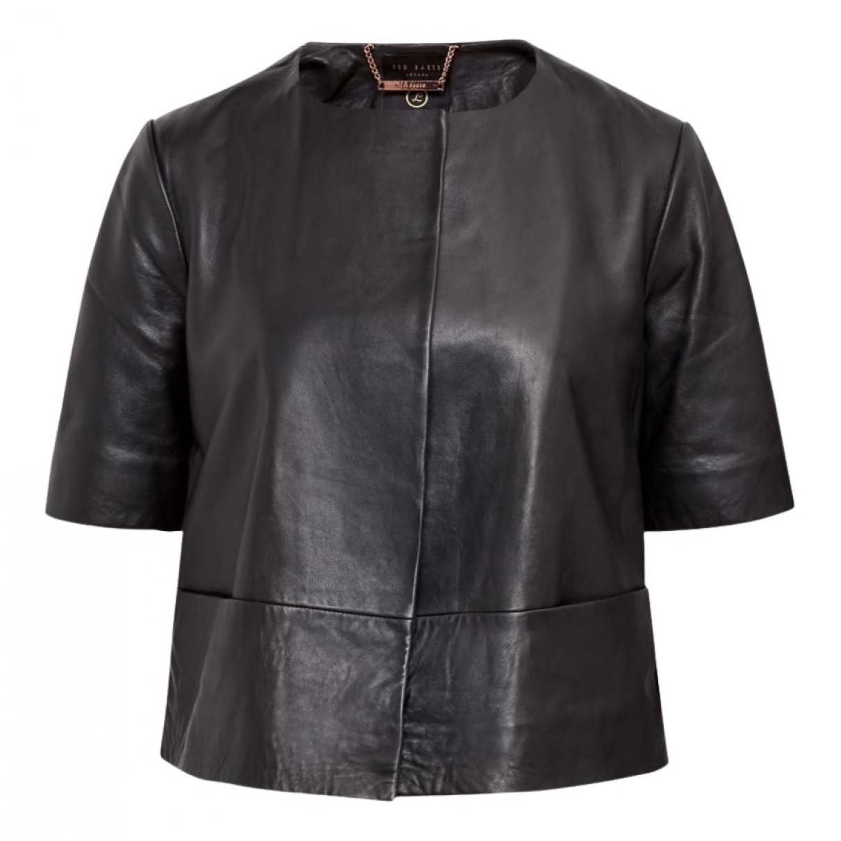 Ted Baker - Veste   pour femme en cuir - noir