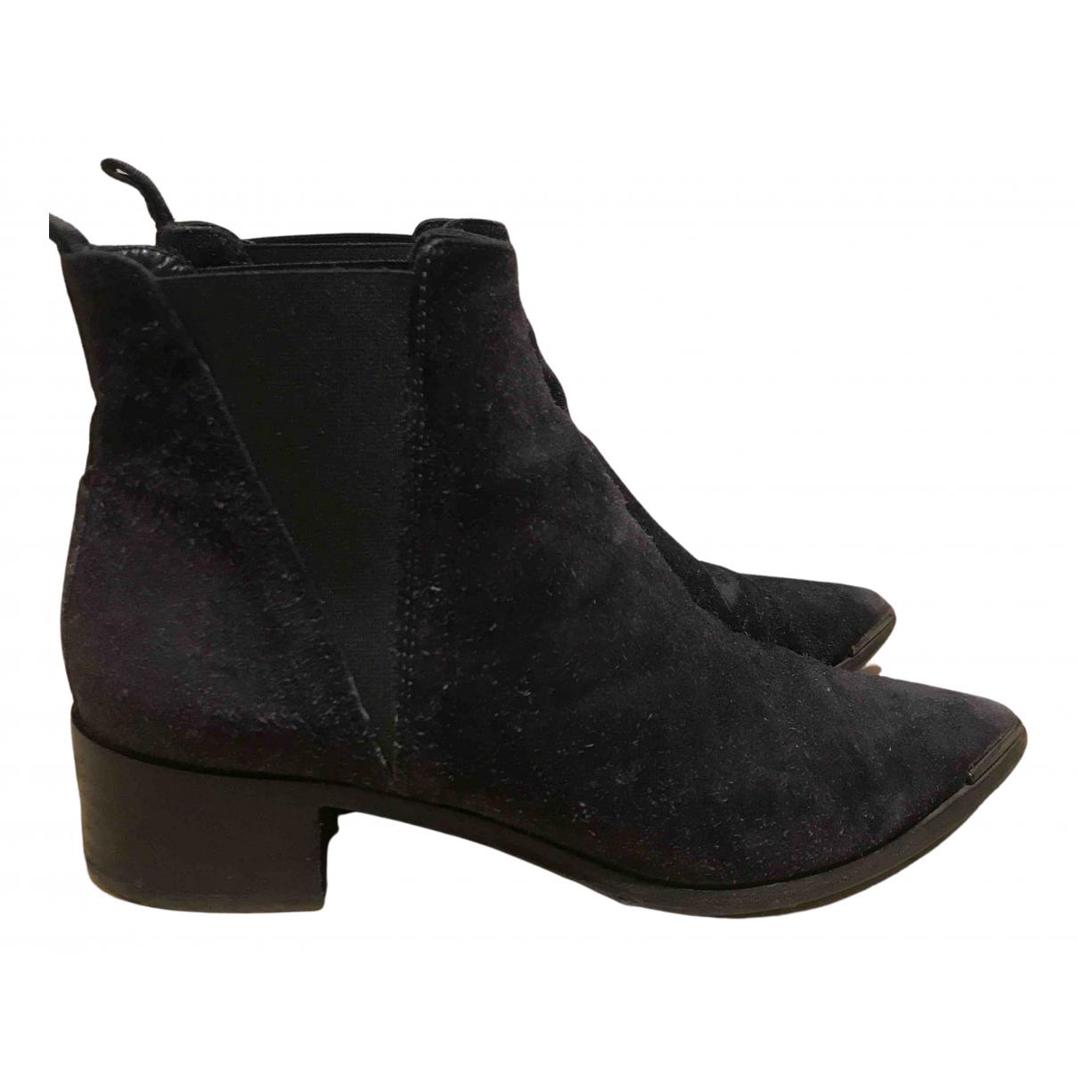 Acne Studios Jensen / Jenny Blue Suede Ankle boots for Women 36 EU