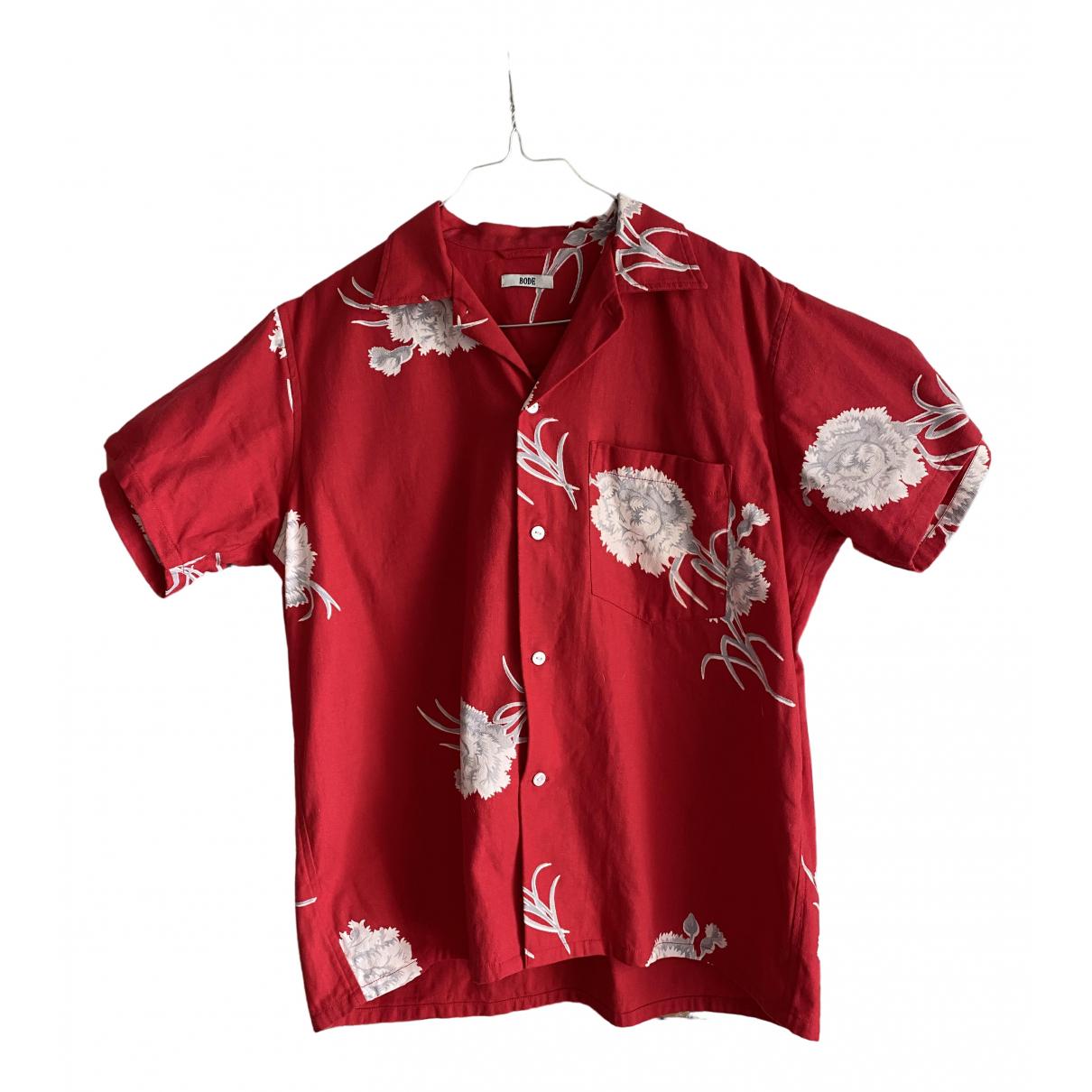 Bode \N Hemden in  Rot Baumwolle