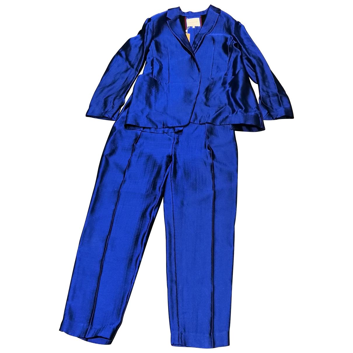 Roksanda \N Jumpsuit in  Blau Seide