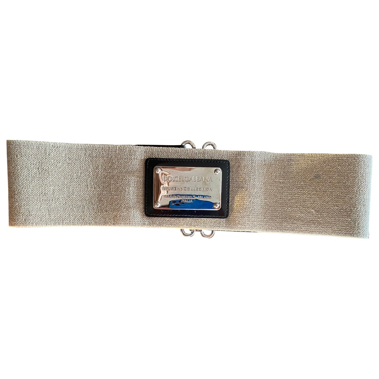 Dolce & Gabbana \N Silver Cloth belt for Women S International