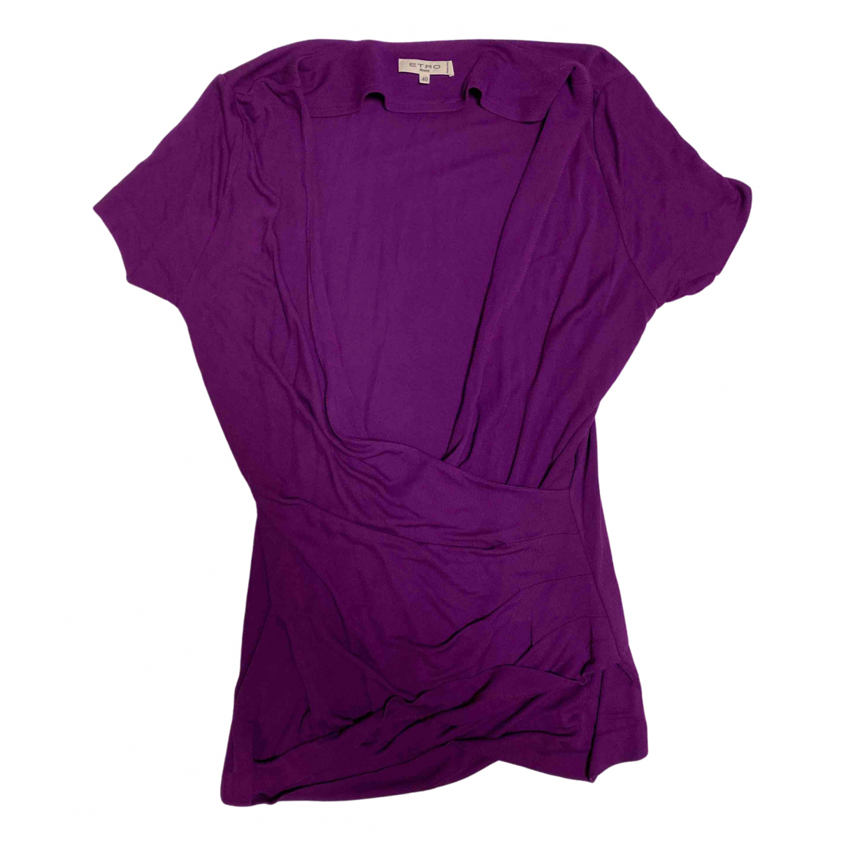 Etro N Purple Cotton dress for Women 40 IT