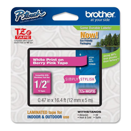 Brother TZe-MQP35 Original Label Tape, 12mm (0.47