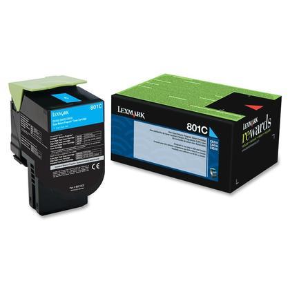 Lexmark 801C 80C10C0 Original Cyan Return Program Toner Cartridge